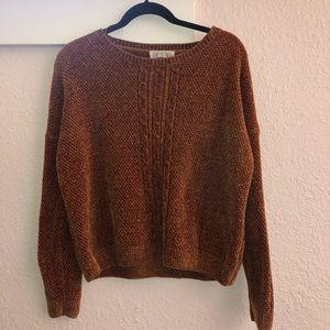 Burnt orange knit sweater